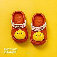 Dép Trẻ Em Cheerful Mario QL - 6633 Siêu Mềm Siêu Nhẹ Chống Trơn Trượt Cho Bé - 5 Màu Sắc Đính Kèm Sticker Gà Ngộ Nghĩnh, Có Quai Đeo Linh Hoạt (Kèm Tất Babylovego B101) thumbnail