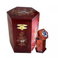 Hộp đựng gói trà gỗ hương đỏ quý hiếm kèm hộp tăm CHTN01 thumbnail
