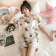 Bộ Ngủ Lụa, Bộ Mặc Nhà Pyjama Chất Mát Nhiều Họa Tiết thumbnail