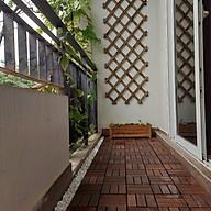 Combo 5 Tấm Sàn Gỗ Tự Nhiên Vỉ Nhựa Lắp Ghép Decor Phòng Khách, Ban Công, Nhà Tắm, Ngoài Trời Gỗ Keo Xuất Khẩu thumbnail