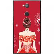 Ốp lưng dành cho điện thoại Sony L2 Mẫu Cô gái váy đỏ áo xẻ vai thumbnail