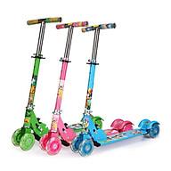 Xe trượt scooter ba bánh phát sáng nhiều màu, có chuông cho bé vận động thumbnail