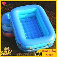 Bể bơi phao cho bé hình chữ nhật họa tiết dễ thương (Kích thước 130 x 95 x 35 cm) thumbnail