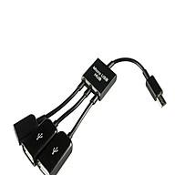 Cáp OTG Hub 3 đầu AZONE - Kết nối chuột và bàn phím cho smartphone thumbnail