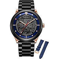 Đồng hồ nam máy cơ tự động dây da và kim loại Thụy Sĩ TOPHILL TV002G.S71A8 thumbnail