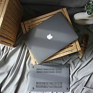 Case, ốp dành cho Macbook - Màu Xám [Tặng kèm nút chống bụi Macbook - Màu ngẫu nhiên] - Hàng chính hãng thumbnail