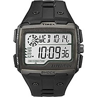 Timex Men Grid Shock LCD Black Dial with Black Resin Strap Watch thumbnail