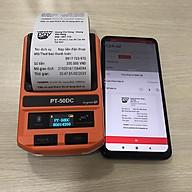 Máy in hóa đơn, in tem nhiệt không dây Bluetooth di động Puty PT-50DC ( Hàng nhập khẩu) thumbnail