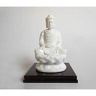 Tượng Phật Thích Ca chất liệu Composite màu trắng cao 11 cm , quà tặng phong thủy cao cấp TPTTC034 thumbnail