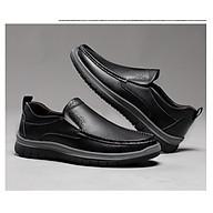 Giày nam da thật cao cấp, giày tây nam không dây, giày da nam công sở giày lười mã 26113 thumbnail