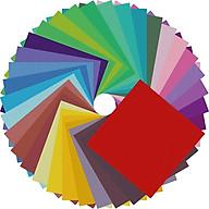 Giấy Thủ Công Origami, 100 Tờ 7 Màu Size Lớn 12x12cm, Giấy Xếp Cò thumbnail