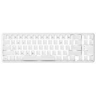 Ajazz K680T Wired&BT Dual-mode Mechanical Keyboard 68 Keys Compact White Backlight Mechanical Keyboard White with Red thumbnail