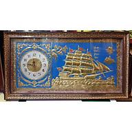 Đồng hồ, tranh đồng vàng liên tấm -THUẬN BUỒM XUÔI GIÓ-A91 thumbnail