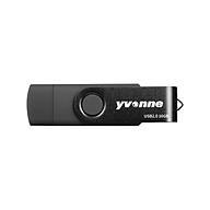 yvonne YT602-2 USB2.0 U Disk Rotating 64GB OTG USB Flash Drive with Double Ports U Disk for Mobile Phone PC Laptop Black thumbnail