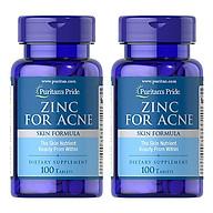 Combo 2 lọ Thực phẩm bảo vệ sức khỏe Zinc for Acne (kẽm trị mụn) thumbnail