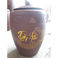 Hũ đựng gạo gốm sứ Bát Tràng loại 15Kg thumbnail