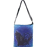 Túi Tote Bags XinhStore Họa Tiết Mèo ToteDC_31 (35 x 30 cm) - Đen Xanh thumbnail