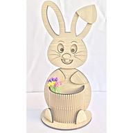 Hộp cắm bút, hộp bút để bàn hình con thỏ có khay to để bút viết thích hợp làm quà tặng, trang trí decore bàn học bàn làm việc thumbnail