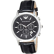 Emporio Armani Men s AR2447 Dress Black Leather Watch thumbnail