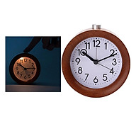 Alarm Clock, Super Silent Round Clock with Night Light, Battery Operated, Simply Design, for Bedroom, Bedside, Desk thumbnail