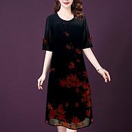 Đầm Suông Chữ A 2 Tay Cột Nơ Trung Niên Kiểu Đầm Suông Nhiều Màu In Họa Tiết GOTI 3315 thumbnail