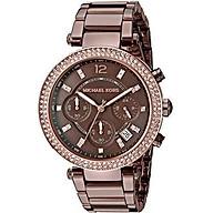 Michael Kors Women s Parker Gold-Tone Watch thumbnail