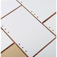 Tập giấy refill kẻ ô vuông 6 lỗ cỡ A5 - 210x142mm thumbnail