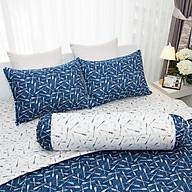 Vỏ gối Ôm Amanda Flora HQ2008 phối màu xanh trắng thumbnail