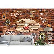 Tranh dán tường 3d trang trí quán cà phê - ép lụa kim sa - có sẵn keo TC10 thumbnail