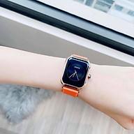 Đồng hồ nữ guou quai silicol mặt chữ Hàn siêu hot 2021 bản dây aple donghonu thumbnail