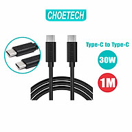 Dây Cáp Sạc Điện Thoại USB Type C To Type C 30W Dài 1M CHOETECH CC0002-V2 - Hàng Chính Hãng thumbnail