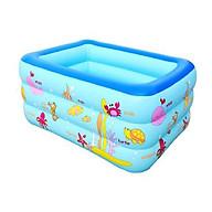 Bể bơi 3 tầng hình chữ nhật 1,5m cho bé thumbnail