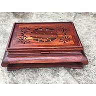 Khay trà gỗ Cẩm hàng cực độc, đẹp, cầu kì kt 47x37x16 thumbnail