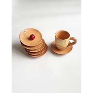 Bộ 6 đĩa gỗ tròn nhỏ lót cốc, ly 10 cm thumbnail