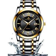 Đồng hồ nam FOURRON F1128 santafe watch 2020 Lịch ngày dây thép không gỉ cao cấp thumbnail