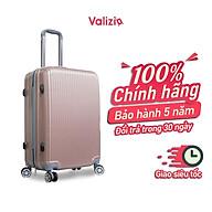 VALIZIO - Vali kéo du lịch vali nhựa ABS vân sọc 8806 nhựa chịu lực chống va đập thumbnail