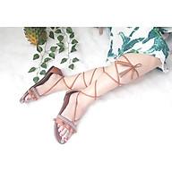 Giày sandal chiến binh thổ cẩm cột dây tua rua thumbnail