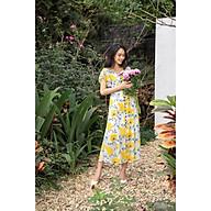 Đầm maxi hoa vàng tay xòe rủ D4011-21 thumbnail