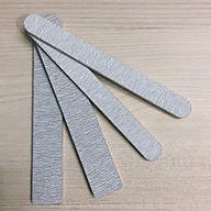Set 4 cây dũa móng tay, móng bột xám chuyên nghiệp độ nhám 80 80, size trung bầu và size lớn vuông thumbnail