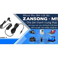 Micro thu âm cài áo Zansong M1 - Mic thu âm cài áo cho điện thoại, máy ảnh, máy quay - Livestream, thuyết trình, trợ giảng - Hàng chính hãng thumbnail