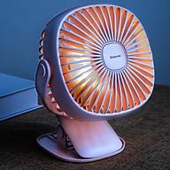 Quạt mini Baseus để bàn xoay 360 độ kiêm kẹp kiêm đen ngủ siêu tiện lợi - Hàng chính hãng thumbnail