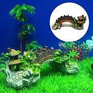 Cây cầu cảnh trang trí bể cá, hồ nông bộ, sân vườn, thác nước thumbnail