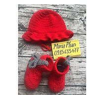 Combo giày bốt và mũ bèo đỏ thumbnail