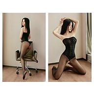 Đồ Ngủ Lưới Mịn Liền Thân Cúp Ngực Xuyên Thấu Hở Đáy Sexy Bodystock Erotic Lingerie Nightwear Brave Man BCS21 40 thumbnail