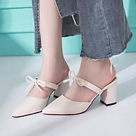 Giày sục đính nơ năng động A60 thumbnail
