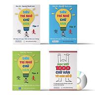 Combo 4 sách Siêu trí nhớ chữ Hán tập 01 + tập 02 + tập 03 + tâ p viê t 1000 chữ Hán từ con số 0 va DVD Audio sa ch nghe thumbnail