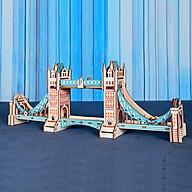 Đồ chơi lắp ráp gỗ 3D Mô hình Tower Bridge Laser thumbnail