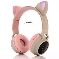 Tai nghe Bluetooth tai mèo HQ_BT-28C đáng yêu có mic đàm thoại cao cấp, tai nghe mèo có đèn phát sáng cute tai nghe tai mèo thời trang, đáng yêu có thể sử dụng khi chơi các tựa game online thumbnail