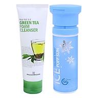 Combo Chống Nắng Mersenne Beaute Ice Puff (100ml) + Sữa Rửa Mặt Trà Xanh Ra&Gowoori (120ml) thumbnail