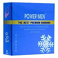 Bao Cao Su Powermen Hương Bạc Hà Mát Lạnh Siêu Mỏng 0.03 (Hộp 3 Chiếc) thumbnail